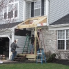 Porch addition on existing home